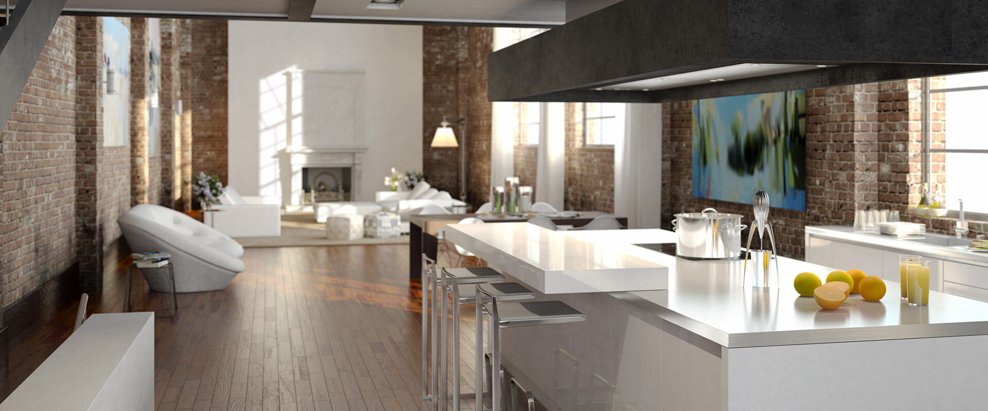 Brick Kitchen remodeled